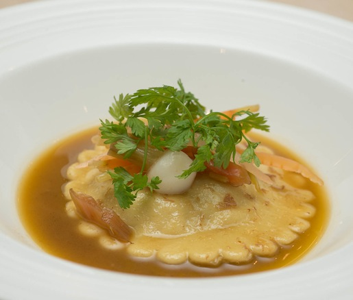 Lamb Sugo Ravioli with Pickled Garden Vegetables